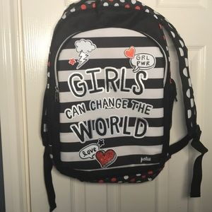JUSTICE- Back Pack - Girls Can Change the World
